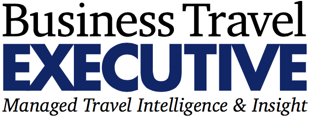 Business Traveler Executive Logo Blue