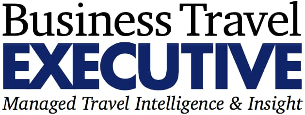Business Traveler Executive Logo Blue